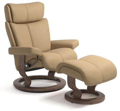 Кресло-реклайнер с пуфом Magic Classic Set
