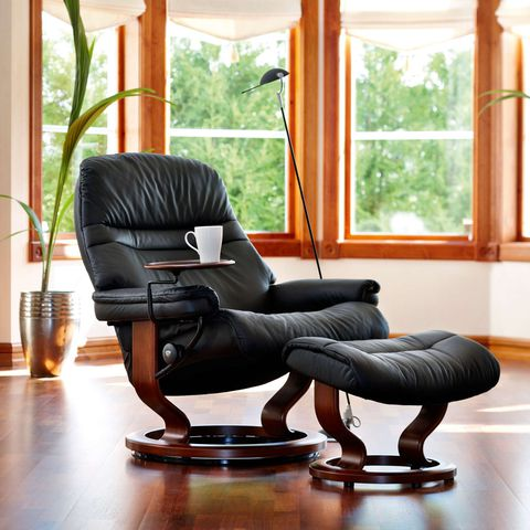 Кресло-реклайнер с пуфом Sunrise Classic Set