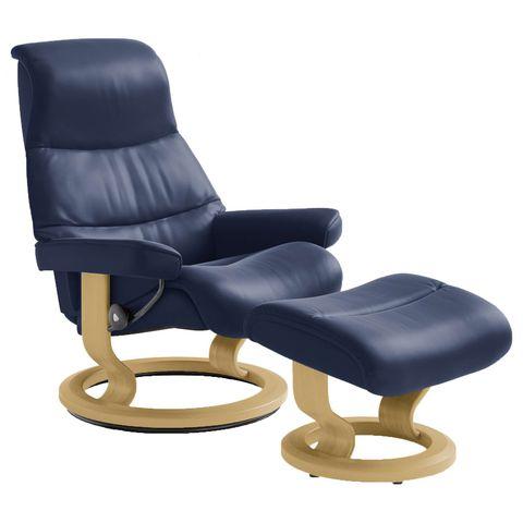 Кресло-реклайнер с пуфом View Classic Set