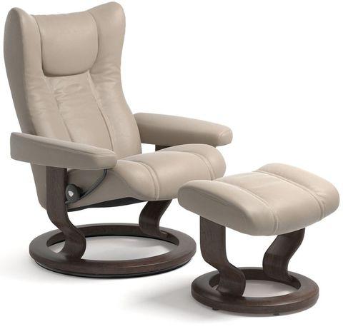 Кресло-реклайнер с пуфом Wing Classic Set