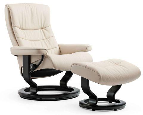 Кресло-реклайнер с пуфом Nordic Classic Set