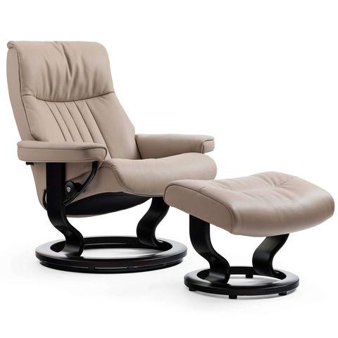 Кресло-реклайнер с пуфом Crown Classic Set