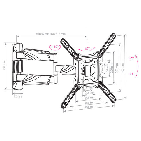 Настенный кронштейн для LED/LCD телевизоров COBRA-40