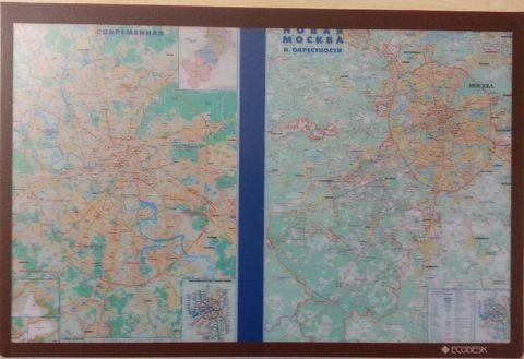Настольное покрытие Карта Москвы