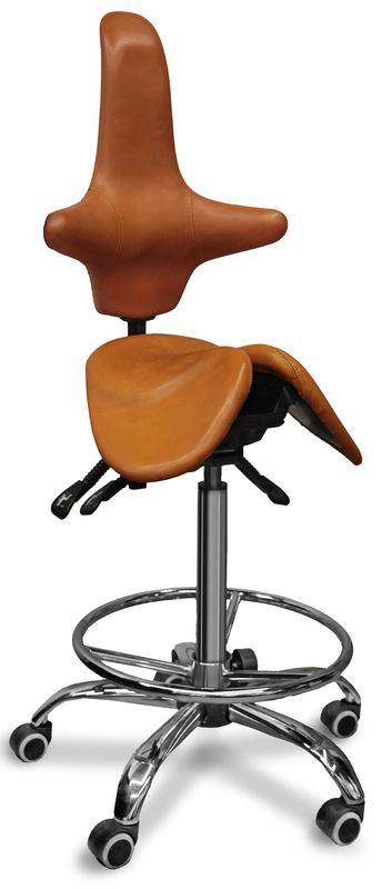 Раздвоенный стул-седло со спинкой Gravitonus EZDuo Back Country