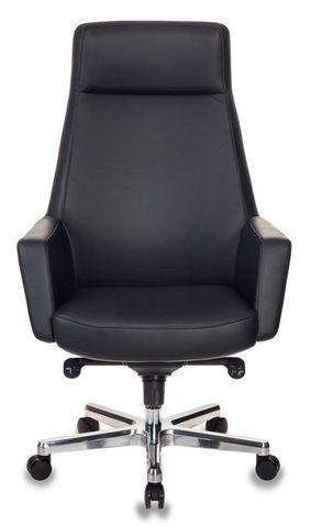 Кресло руководителя кожаное Бюрократ Antonio