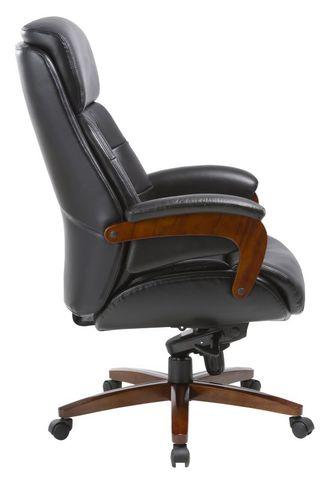 Кресло руководителя кожаное Бюрократ Mega