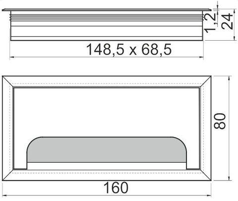 Прямоугольный пропуск для кабеля