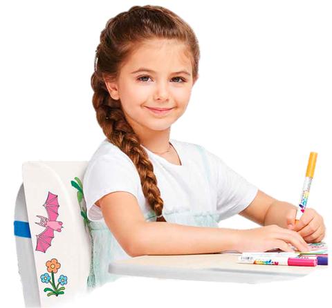 Ортопедическая подушка-раскраска под спину для детей Fantasy