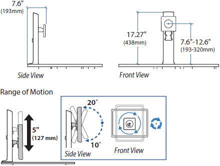 Ergotron WorkFit настольный кронштейн для большого монитора 97-936-085