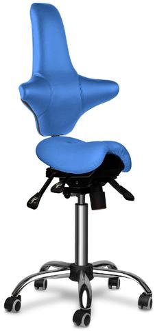 Стул-седло раздвоенное со спинкой Gravitonus EZDuo Tiny Back