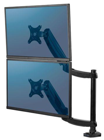 Вертикальный кронштейн для двух мониторов Fellowes Series