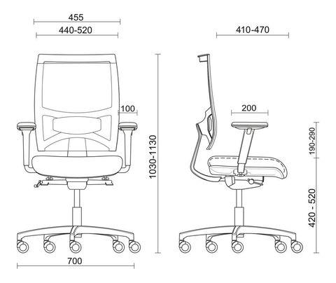 Сетчатое кресло для руководителя Sitland Fresh Air