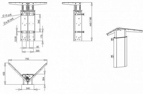 Настенный стол для работы стоя Ergostol Wall