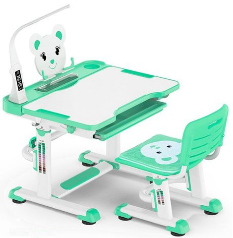 Комплект парта и стульчик Mealux BD-04 XL Teddy (с лампой)