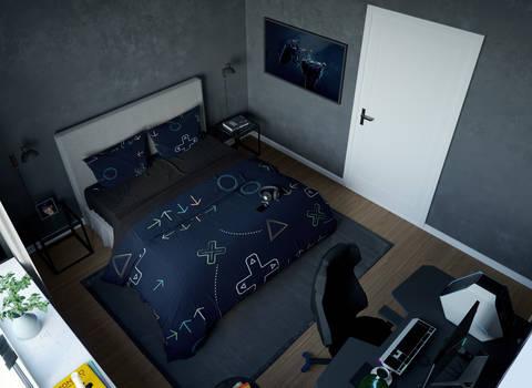 Геймерское постельное бельё SleepHard SleepStation