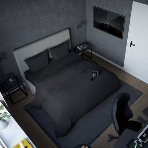 Черное постельное бельё SleepHard The Black One