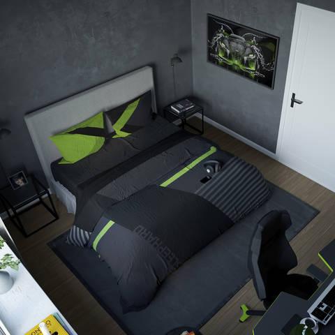 Геймерское постельное бельё SleepHard GreenNight