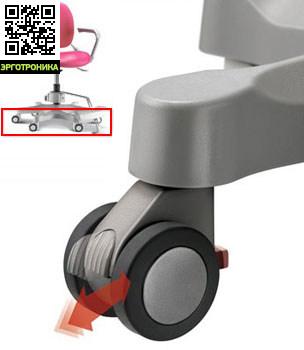 Ортопедическое детское кресло Duorest Kids 280 Фиксатор колес