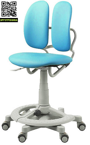 Кресло Duorest Kids 218A Голубая эко-кожа