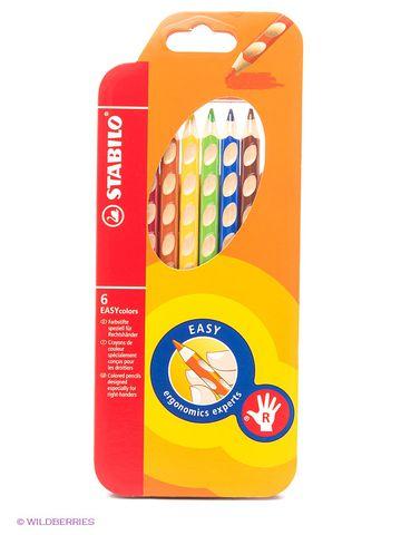 Набор цветных карандашей  EASYcolors, 6 цветов