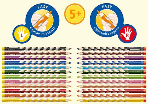 Набор цветных карандашей  EASYcolors, 12 цветов с точилкой