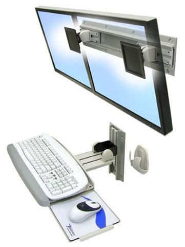 Ergotron Neo-Flex настенное крепление для 2-х мониторов 28-514-800