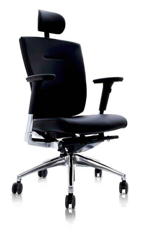Офисное ортопедическое кресло для руководителя DuoFlex Leather