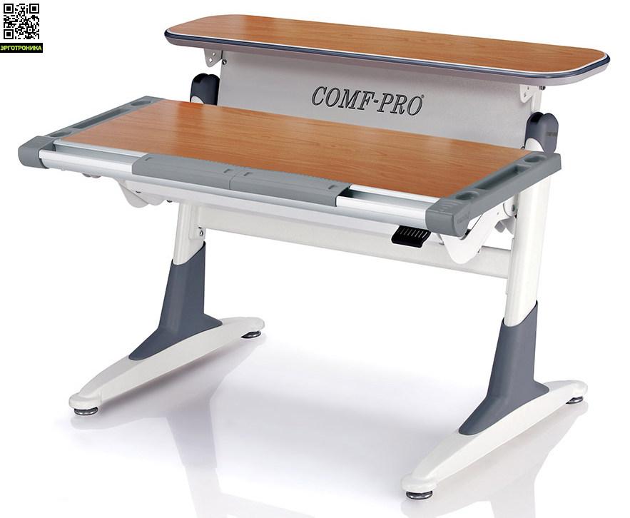 Растущая парта-трансформер СohoДетские парты<br>Имеет комбинированную столешницу, функционально разделенную на две части: стационарную и динамической части столешницы предназначеной непосредственно для работы или занятий, имеет возможность менять положение, как по высоте в диапазоне от 53 до 80 см (высота обычного письменного стола 76 см), так и по углу наклона в диапазоне от 0 до 20°.<br>