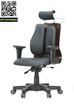 Ортопедическое офисное кресло DUOREST DR-150AЭргономичные кресла<br>Кресла серии DUOREST Cabinet DR-150 Aукомплектованы регулируемым по высоте подголовником и вешалкой для одежды. Оригинальное техническое решение конструкции подголовника позволяет почувствовать себя комфортно на протяжении долгих часов работы, а вешалка не будет лишней  людям, ценящим время.<br>Компьютерное кресло оснащено системой двойной спинки DUOREST BACKREST. Части спинки установлены на эластичные каучуковые соединители, отвечающие за беспрепятственное изменение угла спинки в зависимости от положения п<br>