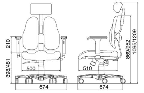 Ортопедическое кресло  LEADERS DR-7500G