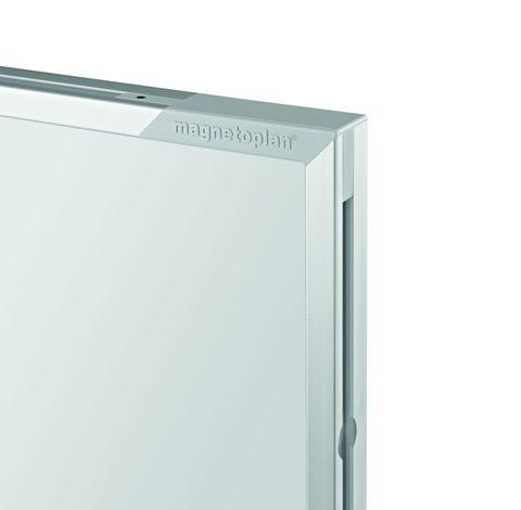 Белая эмалевая доска с системной рамкой ferroscript Magnetoplan 1000x750 мм.