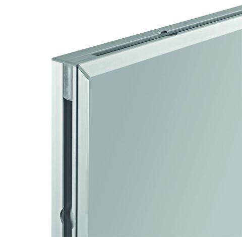 Белая эмалевая доска с системной рамкой ferroscript Magnetoplan 1800x1000 мм.